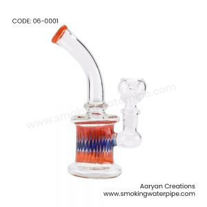 6 Inch Assorted Color Lip Daze Art Water Pipe 14mm